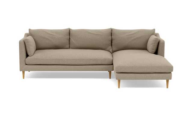 CAITLIN BY THE EVERYGIRL Sectional Sofa with Right Chaise, Almond - Interior Define