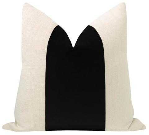 "PANEL :: Classic Velvet // Ebony - 20"" X 20"" - Little Design Company"