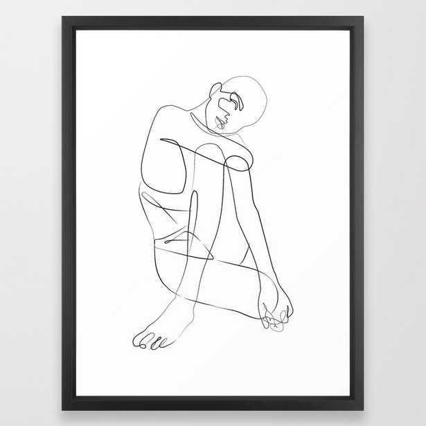 Minimalist Art Print - Entwined - Framed - Society6