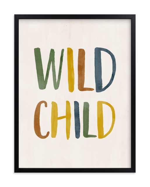 Wild Child Typographic Children's Art Print - Minted