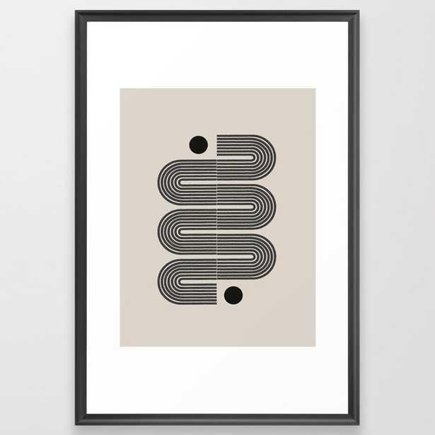 Geometric Mid Century Art Framed Art Print - Society6