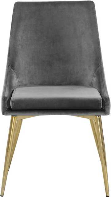 Paluch Upholstered Dining Chair (set of 2) GREY - Wayfair