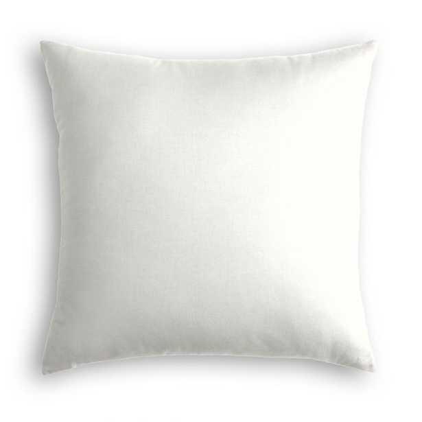 Cream Classic Linen Throw Pillow - Linen & Seam