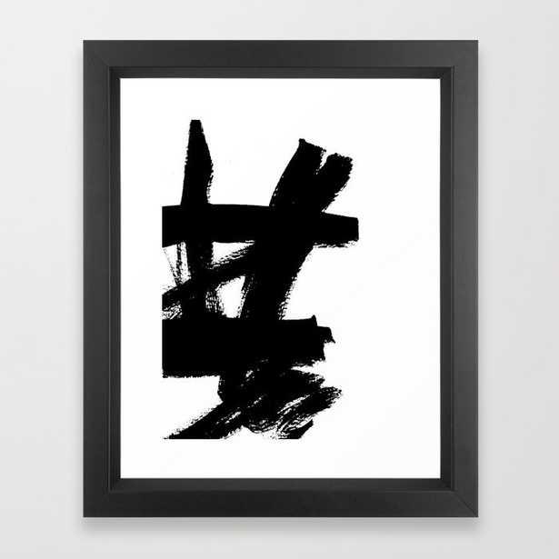 Abstract black & white 2 Framed Art Print - Vector Black Frame  10 x 12 - Society6