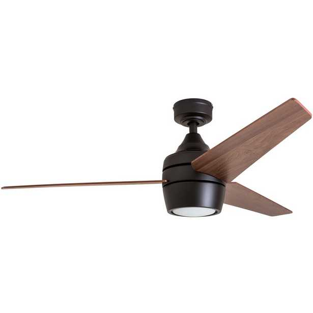 """52"""" Ares 3 Blades LED Ceiling Fan Light Kit Included - Wayfair"""