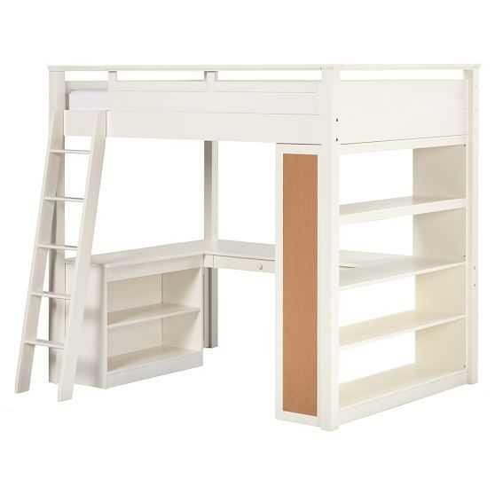 Sleep & Study® Loft- Simply white - Pottery Barn Teen
