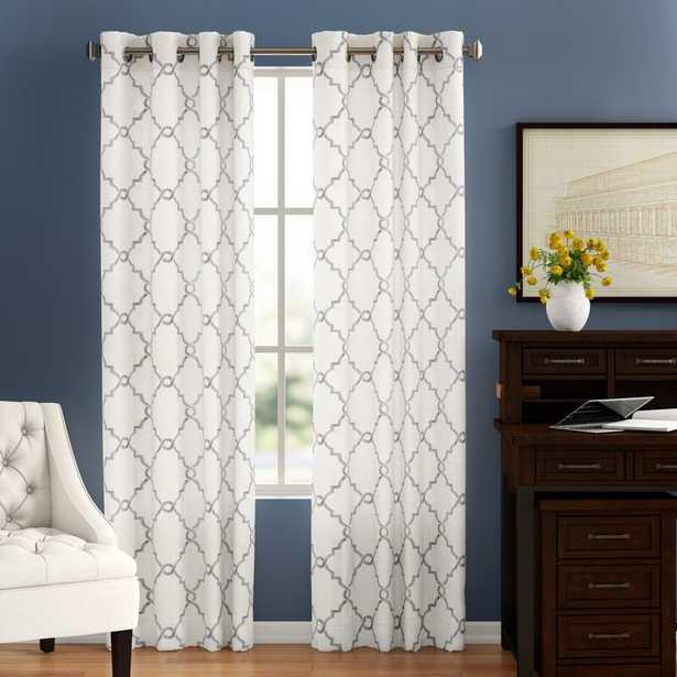 Winnett Geometric Semi-Sheer Grommet Curtain - Wayfair
