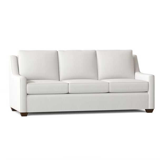 """Léa 80"""" Square Arm Sofa Bed / Classic Bleach White - Wayfair"""
