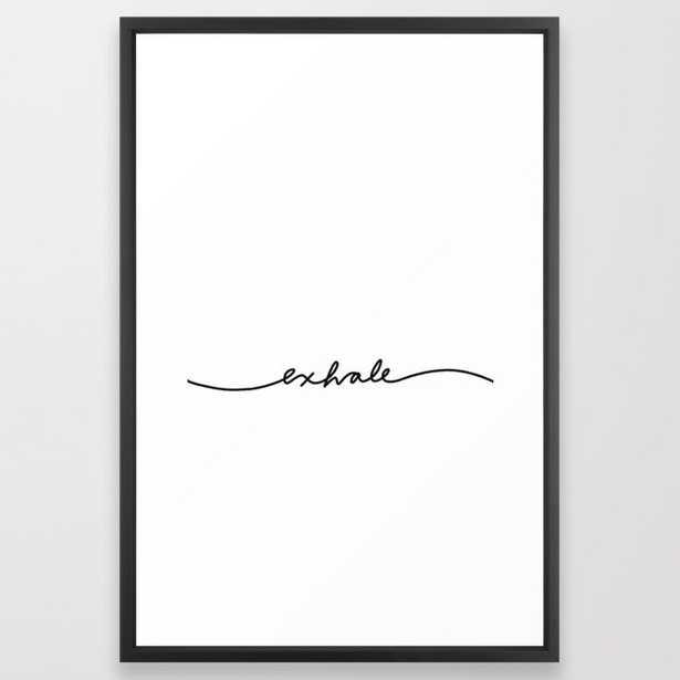 "exhale Framed Art Print, Vector Black Frame, 26"" x 38"" - Society6"