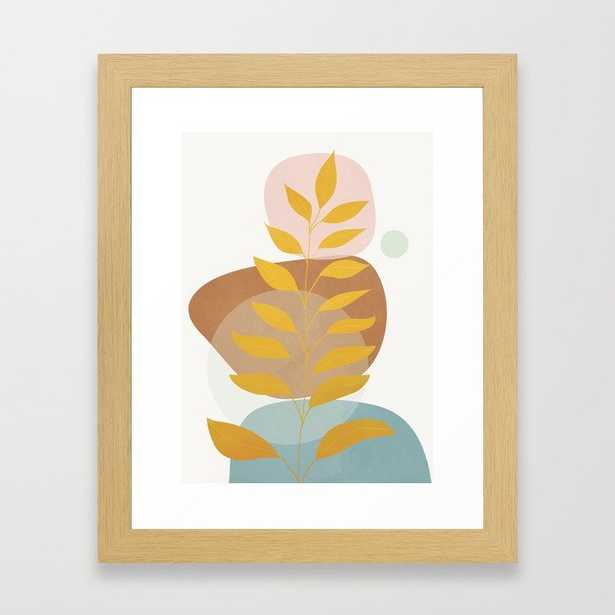 Soft Abstract Shapes 05 Framed Art Print by Flow Line - Society6