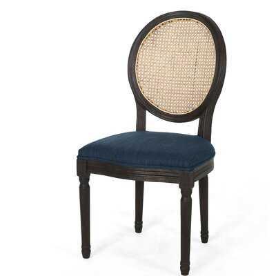 Poynter Dining Chair, Navy Blue (set of 2) - Wayfair