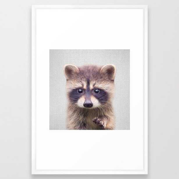 Raccoon - Colorful Framed Art Print - Society6