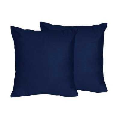 Solid Navy Blue Throw Pillows - Wayfair
