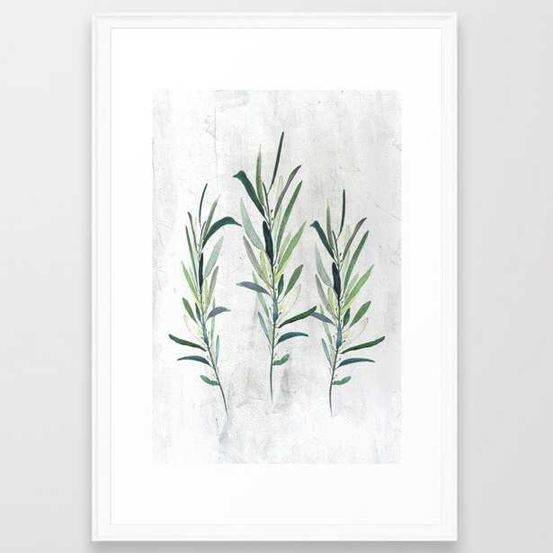"""Eucalyptus Branches Framed Art Print // Large 26x38"""" // Scoop White frame - Society6"""