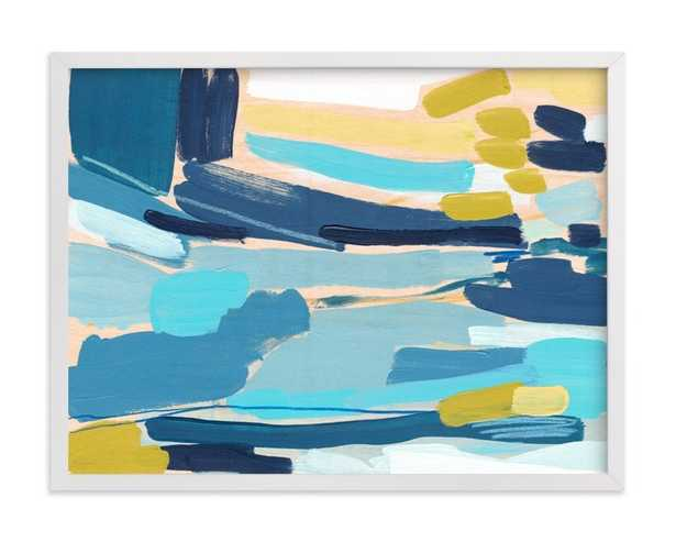 """Flatlands limited edition print by Katie Craig, 24"""" x 18"""", Standard Plexi & Materials, White Wood Frame - Minted"""