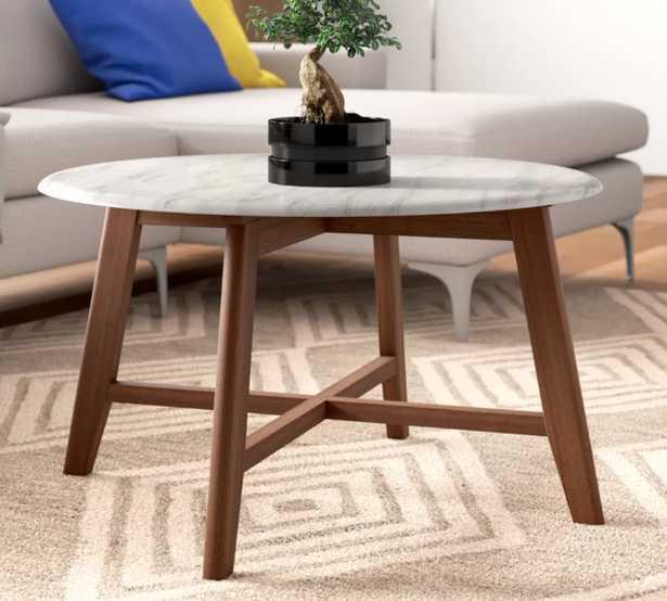 Grafton Faux Marble Coffee Table - Wayfair