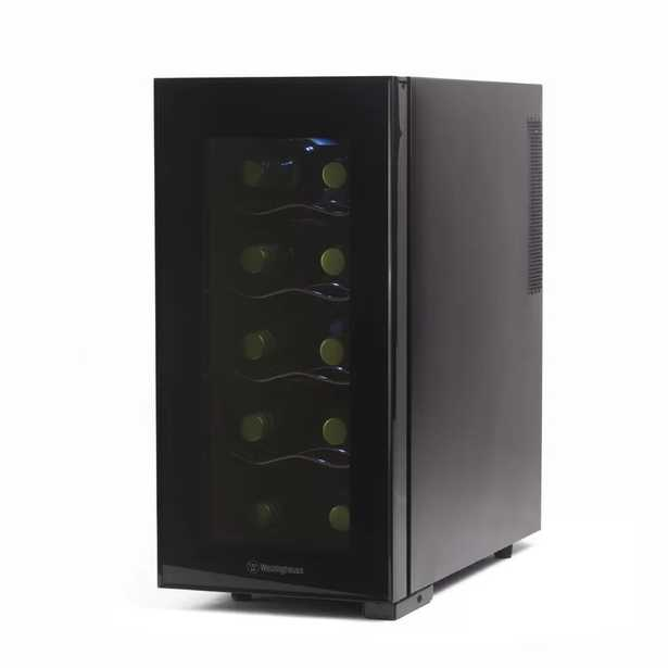 10 Bottle Thermal Electric Single Zone Freestanding Wine Cooler - Wayfair