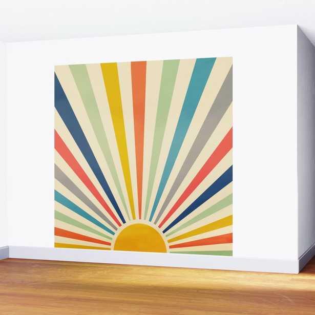 Sun Retro Art III Wall Mural - Society6