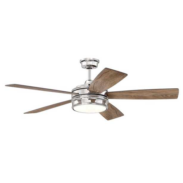 """52"""" Winchcombe 5 - Blade LED Standard Ceiling Fan with Remote Control and Light Kit Included - Birch Lane"""