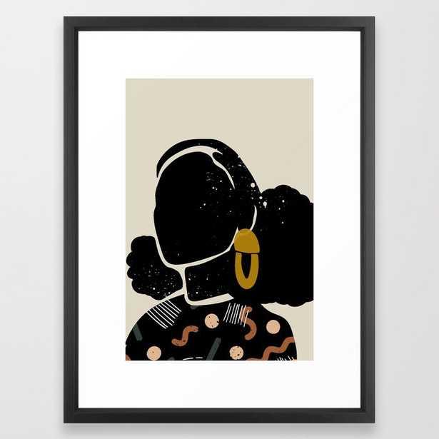 Black Hair No. 4 Framed Art Print by Domonique Brown - Society6