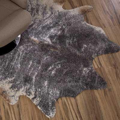 Hand-Tufted Faux Cowhide Gray Area Rug - Wayfair