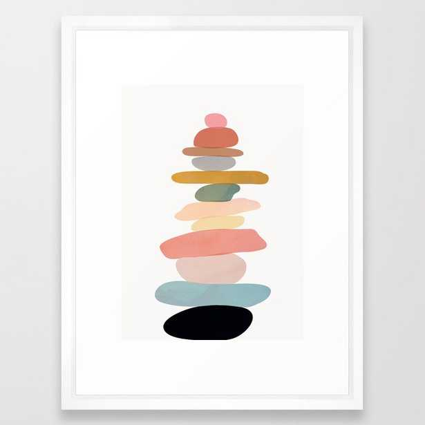 Balancing Stones 22 Framed Art Print - Society6