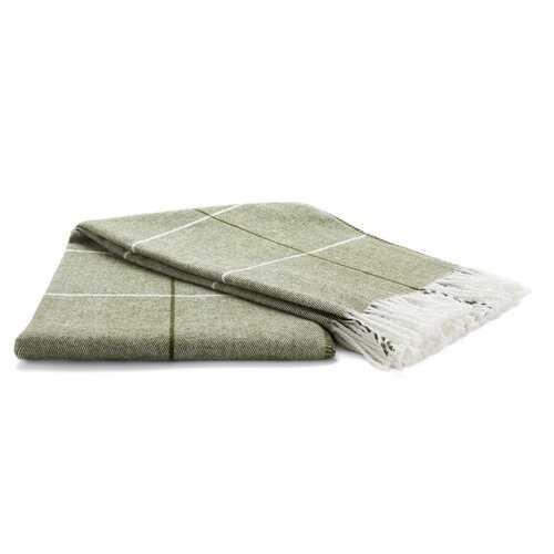 Green Oneil Tartan Blanket - Wayfair