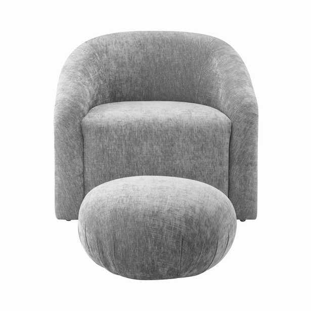 Boboli Velvet Chair & Ottoman Set - Studio Marcette