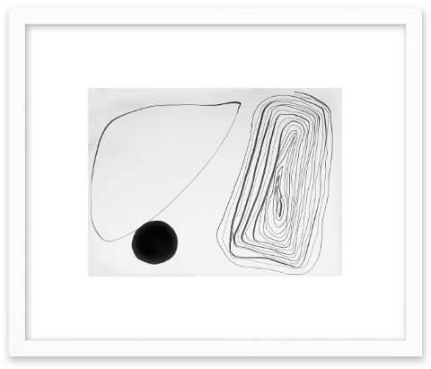 A - Contemporary White Wood Frame - Artfully Walls
