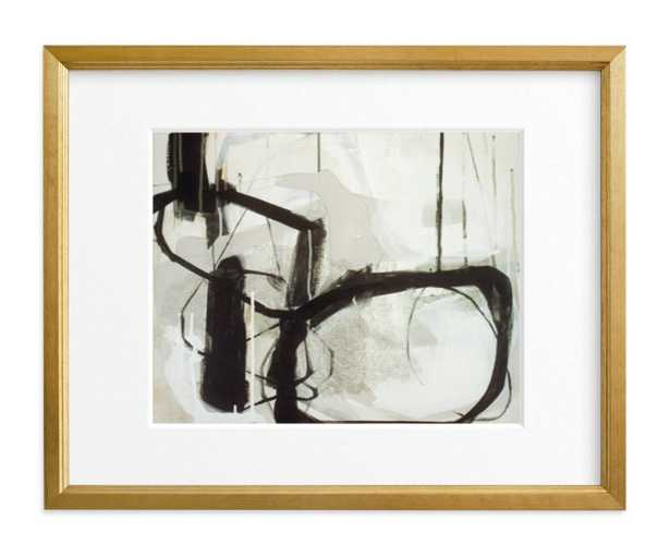 """Abstract Untitled 1 // 11"""" x 14""""  // Gilded Wood Frame // Matted - Minted"""