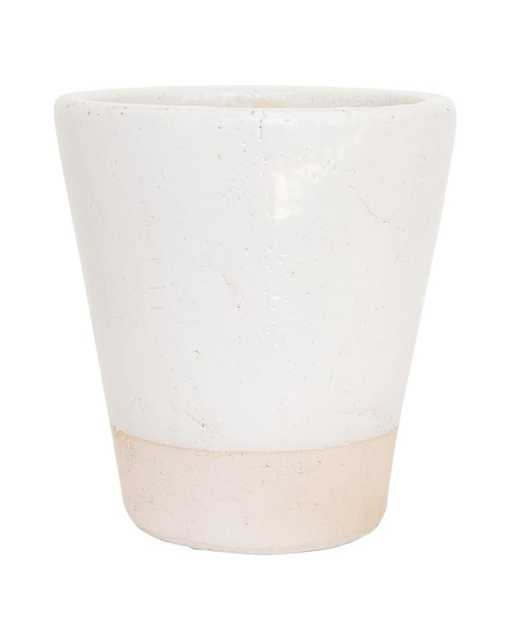 BENNET LARGE POT - WHITE - McGee & Co.