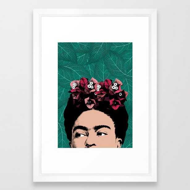 Floral Frida Framed Art Print - Society6