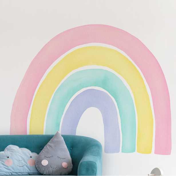 Watercolor Rainbow Wall Decal - Peel and Stick - Wayfair