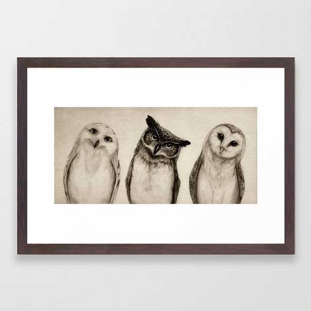 The Owl's 3 Framed Art Print by Isaiah K. Stephens - Society6