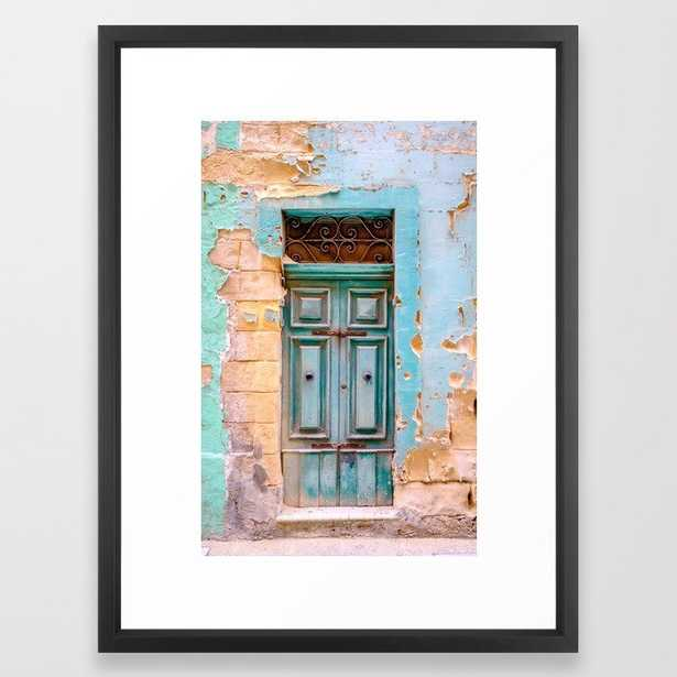 Blue Door in Antiqua, Guatemala Framed Art Print - Society6