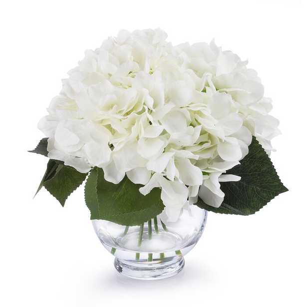 Hydrangea Floral Arrangements in Vase - Wayfair
