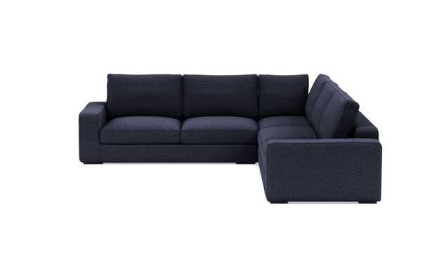 AINSLEY Corner Sectional - Azure Heathered Weave - Interior Define