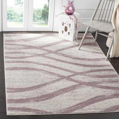 Marlee Cream/Purple Area Rug - Wayfair