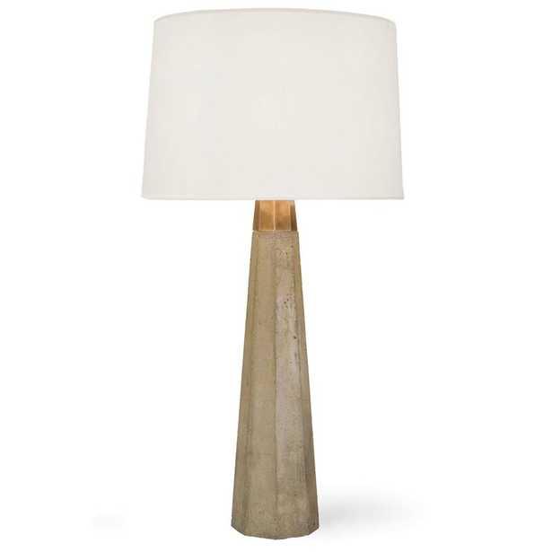 "Regina Andrew 30"" Concrete and Brass Table Lamp - Perigold"
