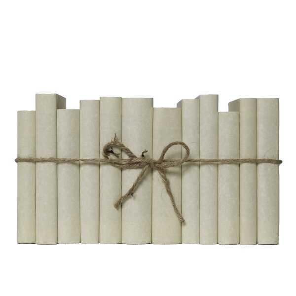 12 Piece by Short Cream ColorPak Authentic Decorative Books Set - Perigold