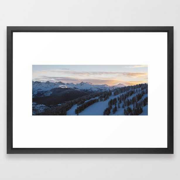 Morning Sunrise in Vail Framed Art Print-Frame Vector Black -20x26 - Society6