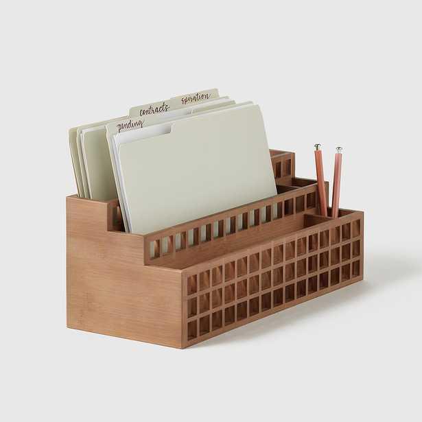 Marie Kondo Shoji Bamboo Desktop Organizer - containerstore.com