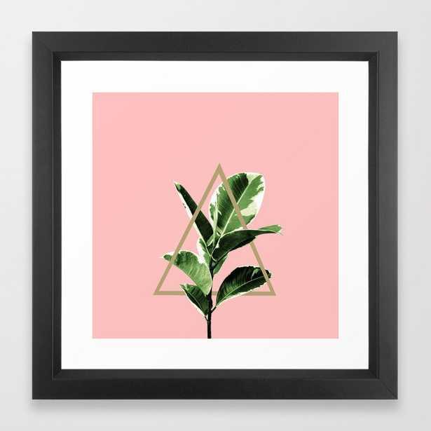 Ficus Elastica Geo Finesse #1 #tropical #foliage #decor #art #society6 Framed Art Print - Society6