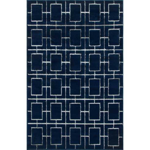 Glam Navy Blue Area Rug (Part number: 3142424) - Wayfair