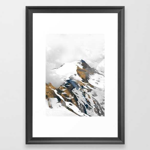 mountain 10 Framed Art Print scoop black - Society6