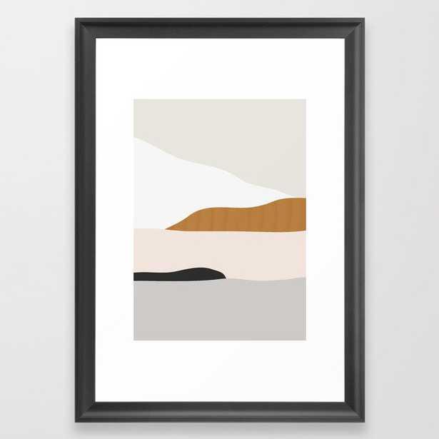 Minimal Art Landscape 2 Framed Art Print by ThingDesign - Society6