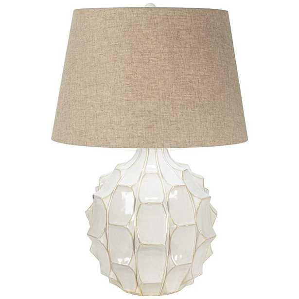 Cosgrove Round White Ceramic Modern Table Lamp - Lamps Plus