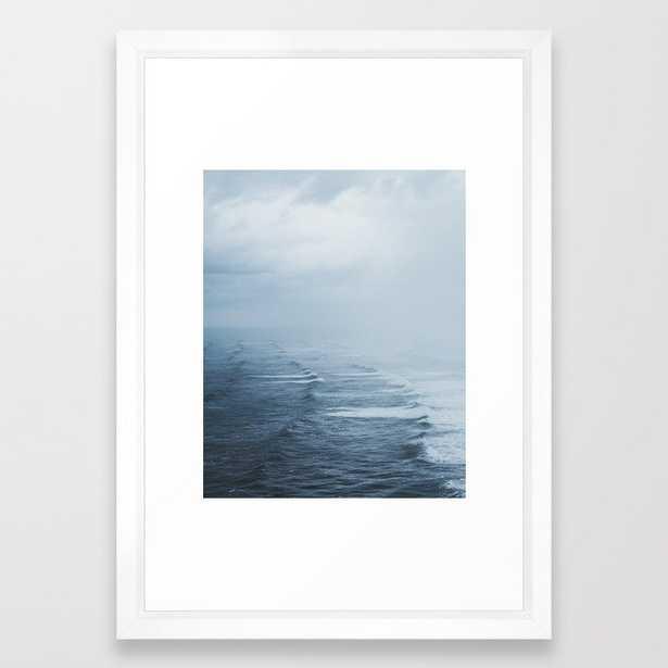 "Storms over the Pacific Ocean Framed Art Print - 15""x21"" Vector White Frame - Society6"