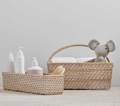 Quinn Changing Table Diaper Caddy White Washed - Pottery Barn Kids