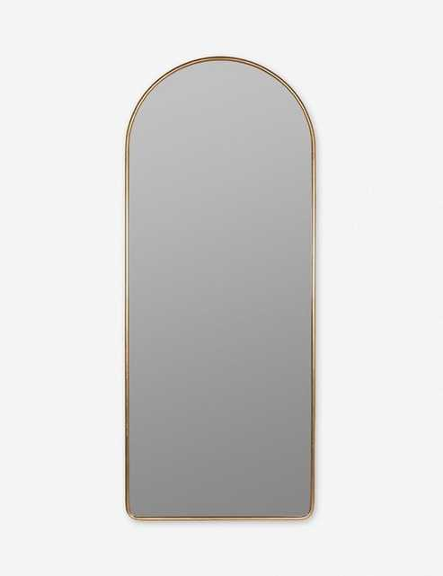 Shashenka Floor Mirror, Gold - Lulu and Georgia